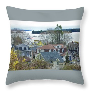 Spring In Maine, Stonington Throw Pillow by Christopher Mace