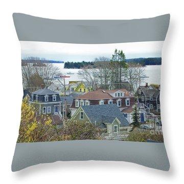 Spring In Maine, Stonington Throw Pillow