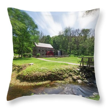 Spring In Sudbury Throw Pillow