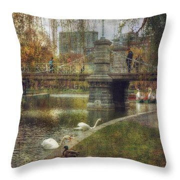 Spring In The Boston Public Garden Throw Pillow