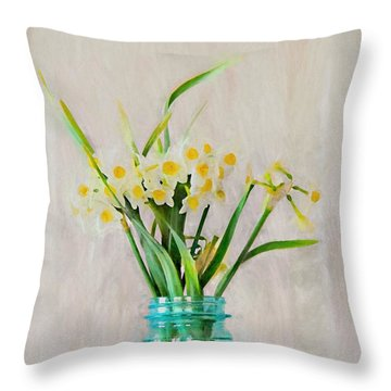 Throw Pillow featuring the photograph Spring In The Country by Benanne Stiens