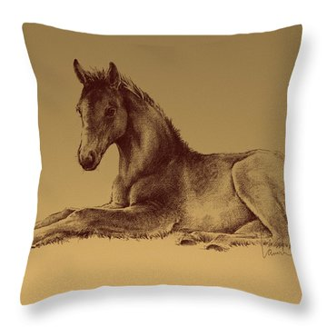 Spring In The Fields Throw Pillow by Laurie Musser
