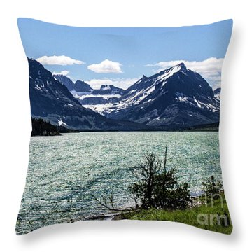 Many Glacier Throw Pillow