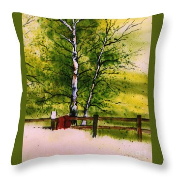 Spring In The Paddock Throw Pillow