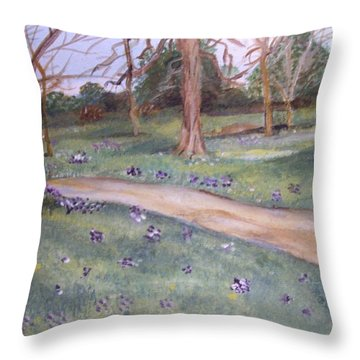 Spring In The Park 2 Throw Pillow by Carole Robins