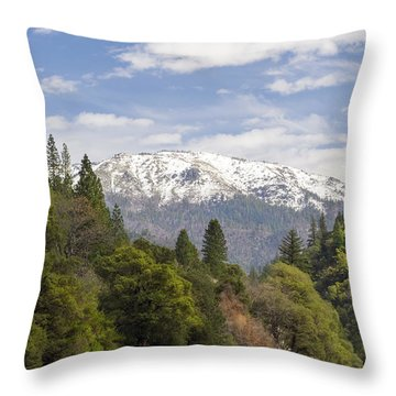 Spring In The Plumas National Forest Throw Pillow