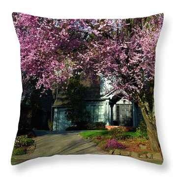 Spring In The Seattle Suburbs Throw Pillow