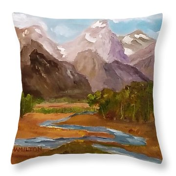 Spring In The Tetons Throw Pillow