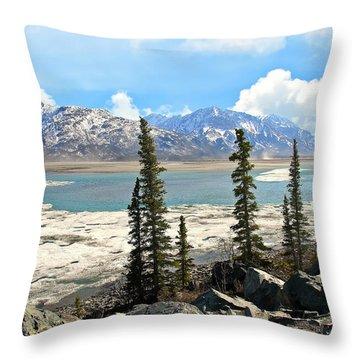 Spring In The Wrangell Mountains Throw Pillow