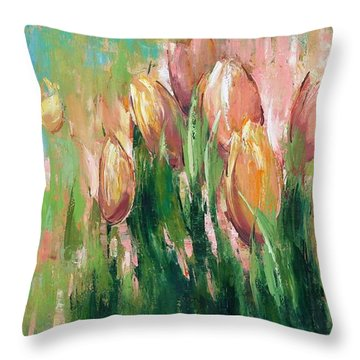 Spring In Unison Throw Pillow by Anastasija Kraineva
