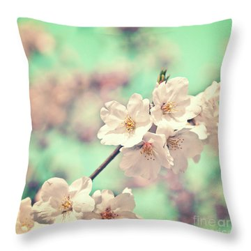 Throw Pillow featuring the photograph Spring Is Coming by Delphimages Photo Creations