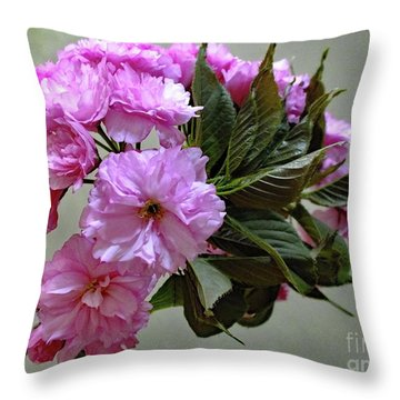Spring Is In Full Swing - Cherry Tree Blossoms Throw Pillow