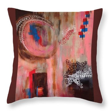 Squiggles And Wiggles # 4 Throw Pillow by Suzzanna Frank