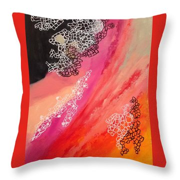 Squiggles And Wiggles #2 Throw Pillow by Suzzanna Frank