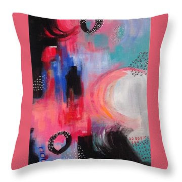 Squiggles And Wiggles #3 Throw Pillow by Suzzanna Frank