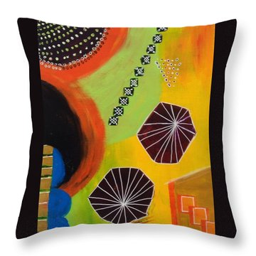 Squiggles And Wiggles #5 Throw Pillow by Suzzanna Frank