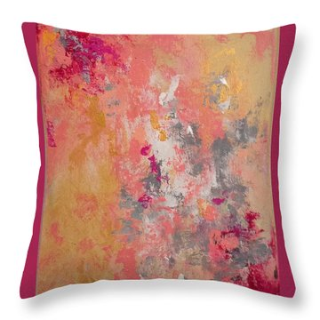 Welcome Spring Throw Pillow by Suzzanna Frank