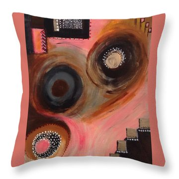 Squiggles And Wiggles #8 Throw Pillow by Suzzanna Frank
