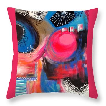 Squiggles And Wiggles #1 Throw Pillow by Suzzanna Frank