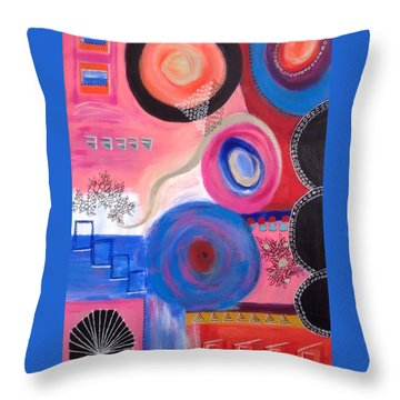 Squiggles And Wiggles  #9 Throw Pillow by Suzzanna Frank