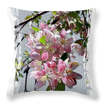 Spring Is Melting Away Throw Pillow by Carol Groenen