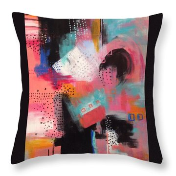 Squiggles And Wiggles  #7 Throw Pillow by Suzzanna Frank