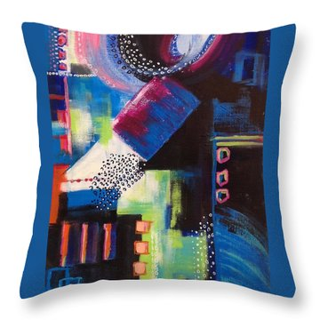 Squiggles And Wiggles #6 Throw Pillow by Suzzanna Frank