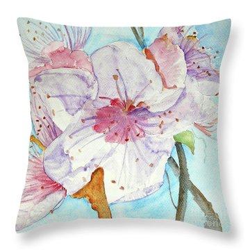 Spring Throw Pillow by Jasna Dragun