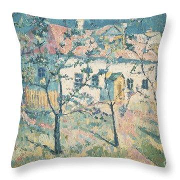Spring Throw Pillow by Kazimir Severinovich Malevich