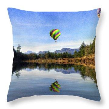 Spring Lake Throw Pillow by Ian Mitchell