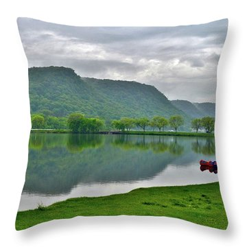 Spring Lake Throw Pillow