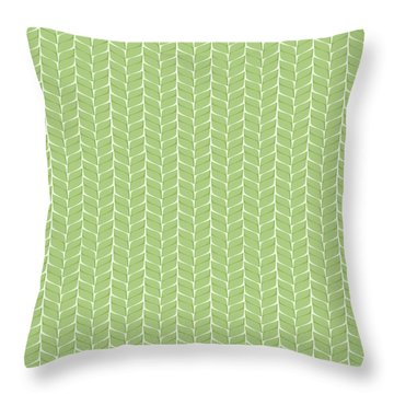 Spring Leaf Throw Pillow by Linde Townsend