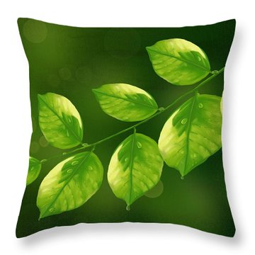 Throw Pillow featuring the painting Spring Life by Veronica Minozzi