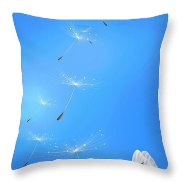 Throw Pillow featuring the painting Spring Lightness by Veronica Minozzi