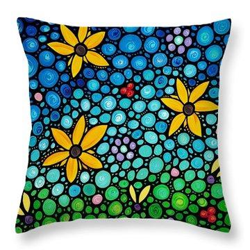 Spring Maidens Throw Pillow