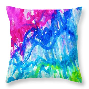 Intuition Throw Pillow by Martin Cline