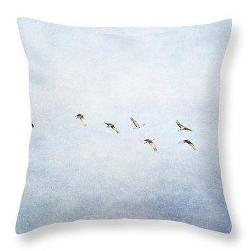 Spring Migration 2 - Textured Throw Pillow