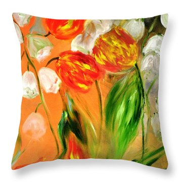 Spring Mood Throw Pillow by Evelina Popilian