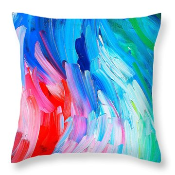 Spring Mood. River Throw Pillow by Svetlana Kononova