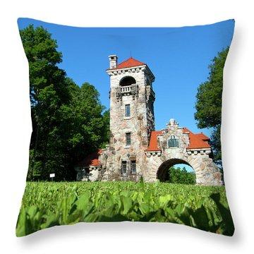 Spring Morning At Testimonial Gateway Throw Pillow