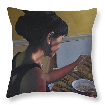 Spring Morning Cabot Arkansas Throw Pillow by Thu Nguyen