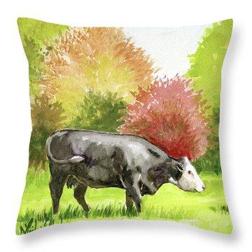 Spring Morning Graze Throw Pillow
