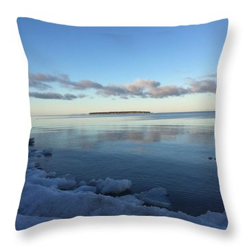 Throw Pillow featuring the photograph Spring Morning On Lake Superior by Paula Brown