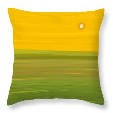 Throw Pillow featuring the digital art Spring Morning - Square by Val Arie