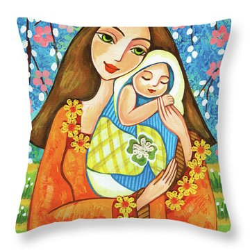 Spring Mother Throw Pillow