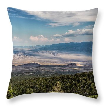 Spring Mountains Desert View Throw Pillow