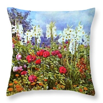 Throw Pillow featuring the photograph Spring by Munir Alawi