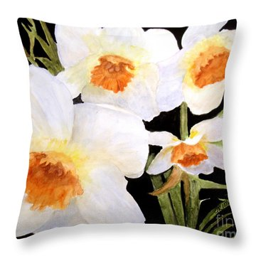 Spring Narcissus Throw Pillow