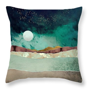 Spring Night Throw Pillow