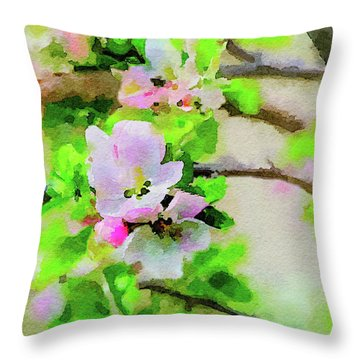 Spring On A Branch Throw Pillow